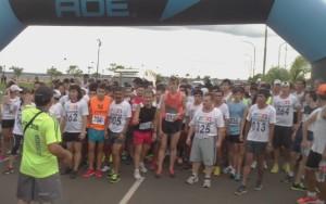 El paraguayo Orlando Eliceche ganó la Maratón del 1° de Enero que se corrió en la Costanera justo antes de la tormenta