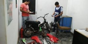 Secuestran partes de motos robadas en Leandro N. Alem