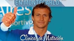Este jueves comienzan las clínicas de natación de José Meolans, ex campeón mundial, en Montecarlo