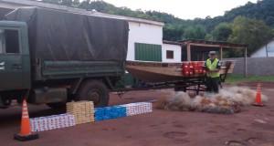 La GN secuestró elementos de pesca y cigarrillos contrabandeados en la costa del río Uruguay