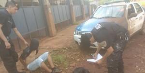 Luego de una persecución detuvieron a un joven acusado de haber asaltado a otro