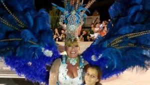La diputada nacional Marilú Leverberg bailó en los Carnavales del Alto Uruguay, en San Javier