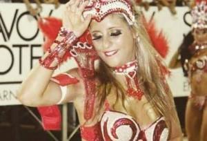 Diosas posadeñas en el carnaval de Encarnación:<em> a Romina le genera adrenalina</em>
