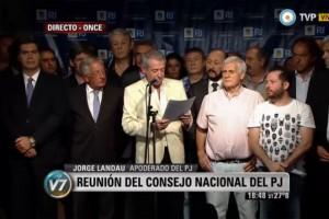 Fuerte respaldo del Consejo Nacional del PJ a Cristina