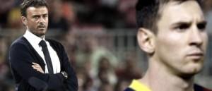 """""""Todos queremos que Messi siga muchos años jugando en Barcelona"""", dijo Luis Enrique"""