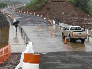 Rehabilitaron circulación por el Puente Acaraguá