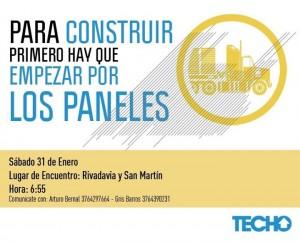 Techo Misiones invita a participar de la primera actividad del año en el barrio Los Patitos