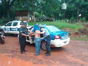 Oberá: Apresaron a dos violentos que golpearon a un vecino y amenazaron de muerte a su familia