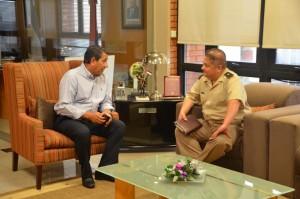 Franco recibió al nuevo jefe del Escuadrón 50 de Gendarmería Nacional