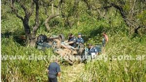 Un automóvil cayó al vacío y cuatro personas fallecieron en la ruta nacional 14