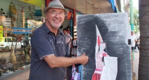 Personaje urbano: Dibuja y pinta retratos mientras escucha jazz