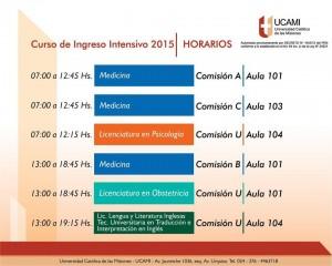 Este lunes comienza el curso intensivo de ingreso en la UCAMI