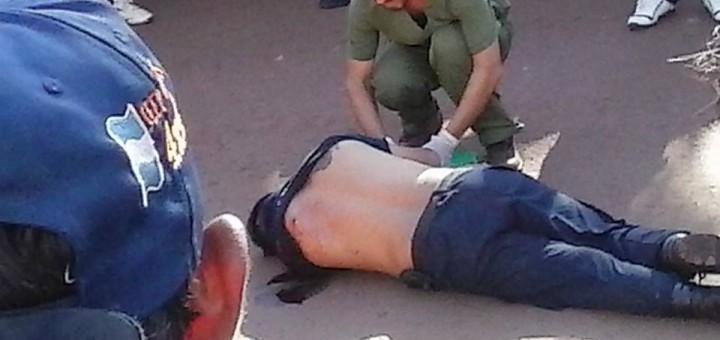 Una banda de al menos ocho ladrones asaltó el banco Macro de El Soberbio, salió a los tiros y asesinó a un policía