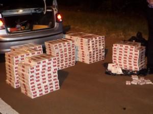 Policías incautaron 400 gruesas de cigarrillos en un control vial en Cerro Azul
