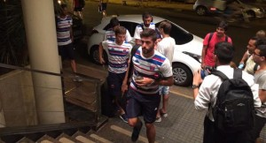 Tigre llegó anoche a Posadas y aguarda en el hotel a la hora del partido
