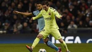 Messi con el Barcelona le ganó 2 a 1 al Kun Agüero con el Manchester City
