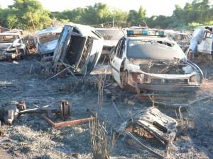 Se incendió el depósito de autos de la Policía de Misiones