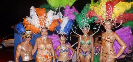 Carnavales 2015: Sapucay brindó una muestra en San Javier de lo que serán los corsos en San Ignacio