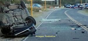 Capioví: conductor lesionado tras despistar con su vehículo y quedar atrapado