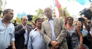 Los fiscales llegaron para encabezar la marcha a un mes de la muerte de Nisman