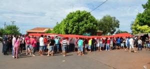 Manifestación de paseros en Encarnación complica el tránsito en el puente internacional