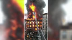 Explosión en Nueva York: se incendió y colapsó un edificio, y hay al menos 30 heridos