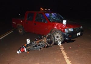 Motociclista lesionado tras colisionar con una camioneta en Aristóbulo del Valle