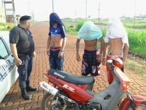 Tres detenidos  por circular en una moto sin documentaciones en Posadas