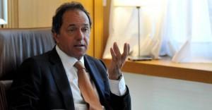 Scioli expresó su solidaridad con Máximo Kirchner