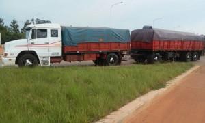 Rentas interceptó una carga de aceite sin la documentación para su traslado
