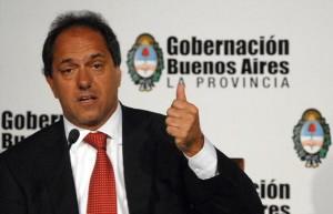 """Scioli pidió la aprobación de la """"Ley de Barrabrava"""""""