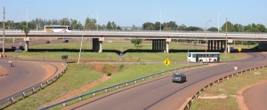 Ruta 12: Habilitaron provisoriamente al tránsito el puente  del Nodo Vial en la ex Garita