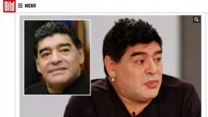 """""""Mamadona"""": en Alemania se burlan de Maradona por el color de sus labios"""