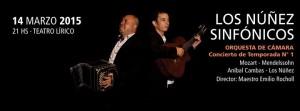 Los Núñez Sinfónicos, una propuesta imperdible para este sábado en el teatro Lírico