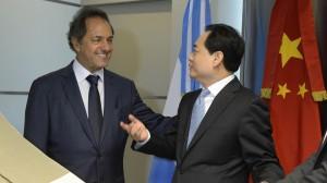 Scioli se comprometió a intensificar la alianza estratégica con China