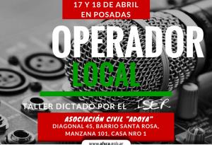 AFSCA Misiones realizará 17 y 18 de abril, taller para Operadores Locales en Posadas