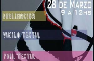 Se realizará un taller de Estampación y experimentación Textil