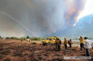Hay 30 mil hectáreas de bosque quemadas y cinco focos activos por los incendios forestales en Chubut