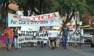 En Eldorado, piden justicia por las muertes de Oscar Bareiro y Claro Dávalos