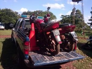 Retienen motos, por falta de documentación, en Alvear