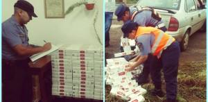 Secuestraron 209 gruesas de cigarrillos en control policial sobre la ruta 12