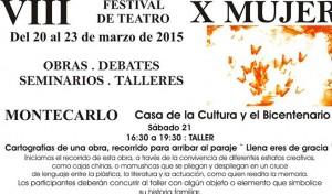 """Realizarán en Montecarlo el Festival de teatro """"X Mujer 2015"""""""