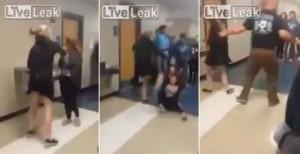También en Estados Unidos: grabaron una brutal pelea entre dos alumnas