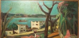 Un cuadro de Ramón Ayala, entre las obras de la Pinacoteca provincial que se exponen en el museo Yaparí