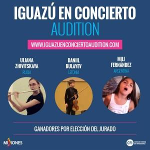 Seis artistas fueron seleccionados entre más de 600 para participar de Iguazú en Concierto