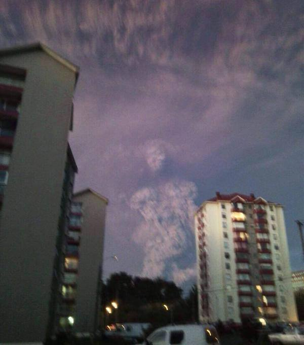 Erupción del Calbuco: ¿forma humana o fotomontaje?