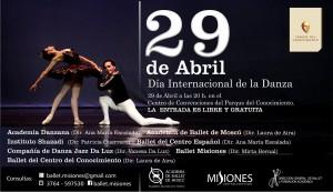 Distinguidos ballets celebrarán este miércoles el Día Internacional de la Danza