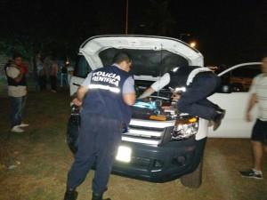 Posadas: tras persecución detuvieron a dos hombres y secuestraron joyas, marihuana y una camioneta
