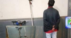 ¿Eran para trabajar? Cayó un joven por robar una desmalezadora y una máquina de cortar césped en Candelaria