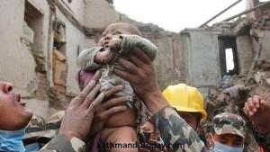 La beba del milagro en el terremoto de Nepal